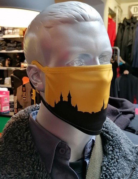 "Behelfsmaske ""Öcher Skyline"" mit Gummizug"