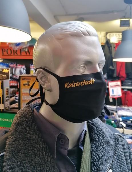 """Schwarze Behelfsmaske """"Kaiserstadt""""   mit Bindeband & Nasensteg   Mix"""