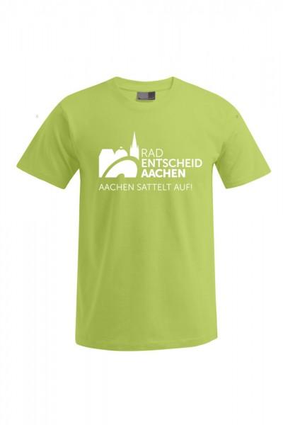 Herren Radentscheid Aachen T-Shirt, Farbe wild lime