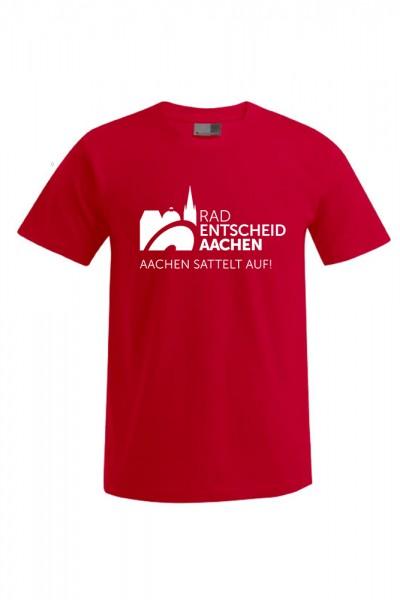 Herren Radentscheid Aachen T-Shirt, Farbe firerot