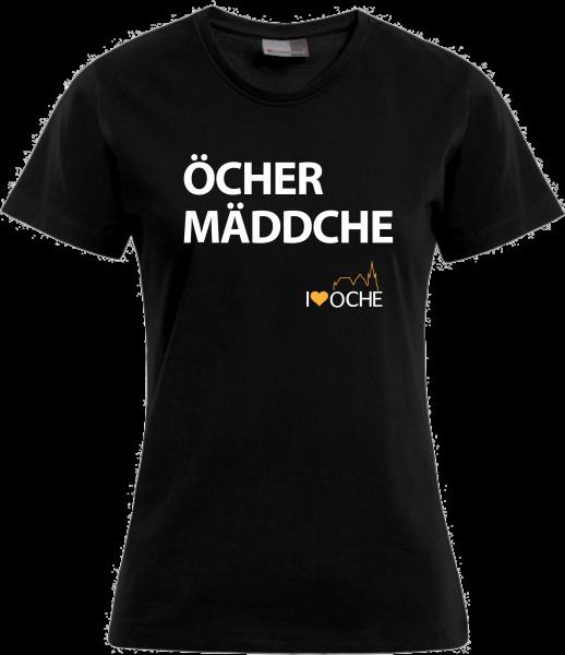 """""""ÖCHER MÄDDCHE"""" Blockschrift- Damenshirt"""