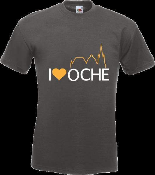 T-Shirt mit dem I Love Oche Logo