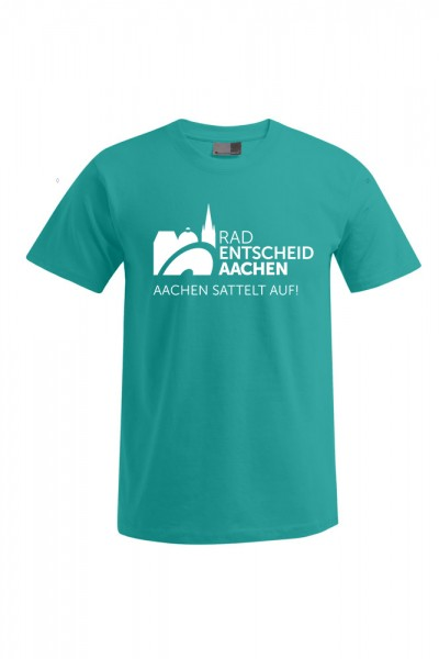Herren Radentscheid Aachen T-Shirt, Farbe jade