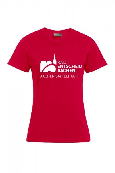Damen Radentscheid Aachen T-Shirt, Farbe firerot