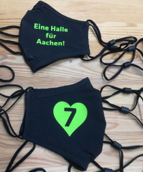 Eine Halle für Aachen schwarze Behelfsmaske