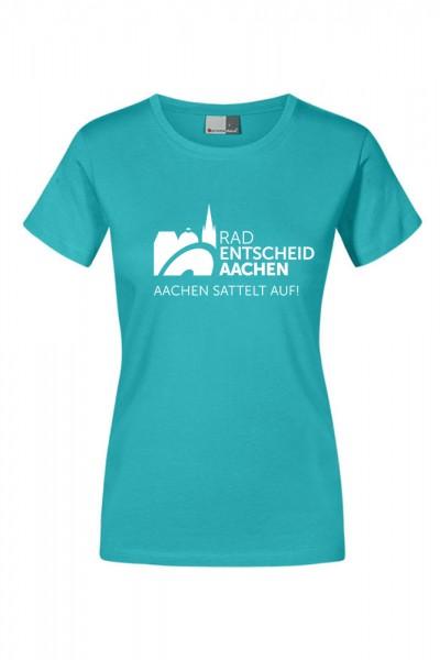 Damen Radentscheid Aachen T-Shirt, Farbe jade