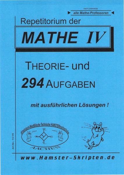 SERIE D - Alle Mathe Profs Mathe IV Repetitorium