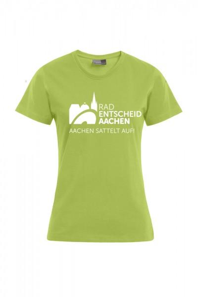 Damen Radentscheid Aachen T-Shirt, Farbe wild lime