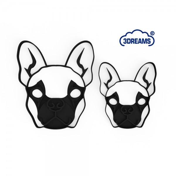 Keksausstecher French Bulldog Face