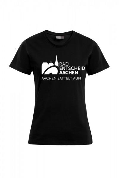 Damen Radentscheid Aachen T-Shirt, Farbe schwarz