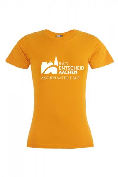 Damen Radentscheid Aachen T-Shirt, Farbe orange