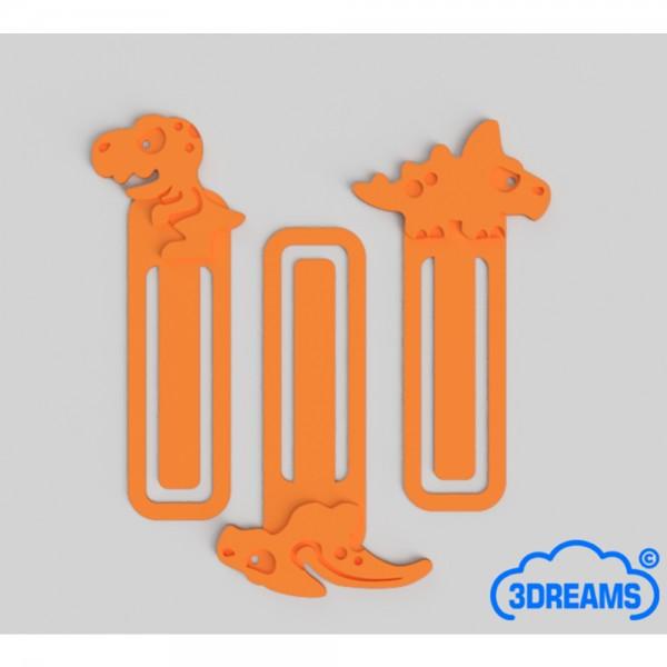 Lesezeichen Set Dinos Farbe orange