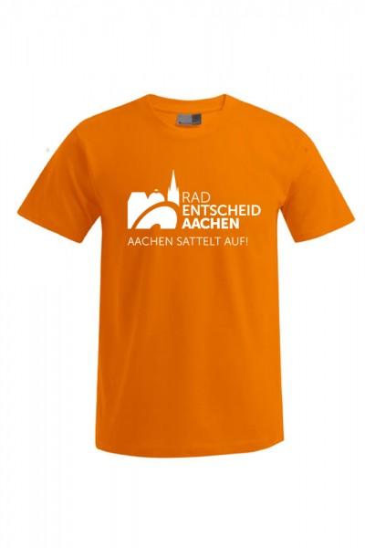 Herren Radentscheid Aachen T-Shirt, Farbe orange