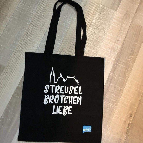 """""""STREUSELBRÖTCHENLIEBE"""" - Baumwolltasche"""