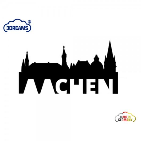 Aachen Skyline Auto-Sticker schwarz