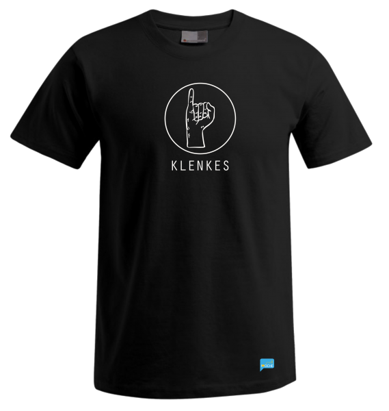 """KLENKES"" - schwarzes Herren T-Shirt"