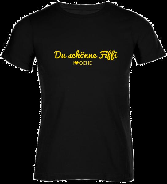 """""""DU SCHÖNNE FIFFI"""" cuvred - schwarzes Herren T-Shirt"""