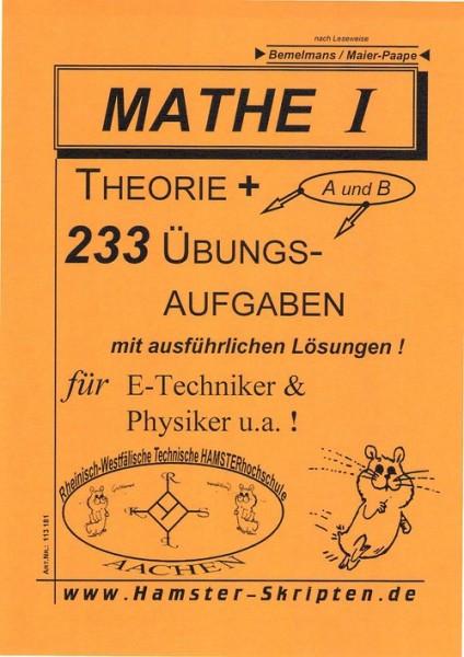 SERIE A - für E-Techniker, Physiker Mathe I